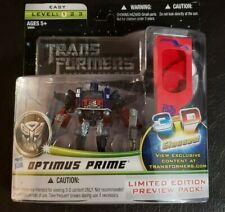 ** Transformers Optimus Prime 3-D (Limited Edition Preview Pack) ** NEW!!