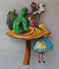 Alice in Wonderland & Caterpillar Brooch or Scarf Pin NEW Multi-Color Fashion