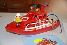 Playmobil 3128 Barco rescate salvavidas bombero carca lancha