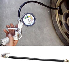 Motorcycle Bicycle Car Flexible Clip On Air Tyre Tire Chuck Inflator Hose Tool~