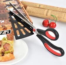 F1: Pizzaschere Pizzaschneider Schere Pizzamesser Cutter Pizzaschaufel Edelstahl