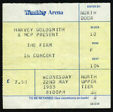 The Firm *Rare* 1985 Wembley Arena Concert Ticket Jimmy Page led zeppelin