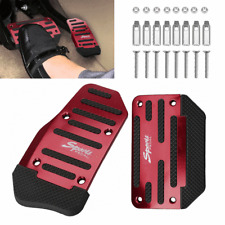 Red Universal Automatic Non-Slip Gas Brake Foot Pedal Pad Cover Accessories 1Set