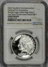 2017 1OZ DOUBLE EAGLE INDIAN HEAD HIGH RELIEF SILVER NGC GEM PROOF!