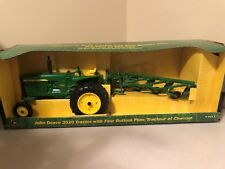 Ertl Diecast John Deere 3020 Tractor With Four Bottom Plow New In Box