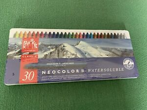Caran d'Ache Classic Neocolor II Watersoluble Colour Crayons Set Of 30 [NEW]