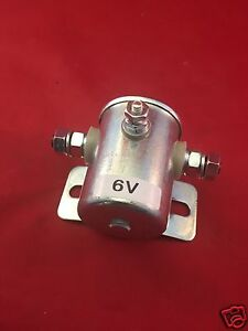 NEW Starter Solenoid 6 Volt Curved  Grounded Base FOR CATERPILLAR DELCO CASE
