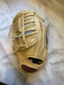 Wilson A700 Baseball Glove Series, Blonde, 12.5 Inch, Right (Left Hand Throw)