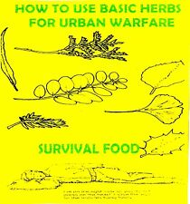 How to use basic herbs for urban warfare  +FREE CD!