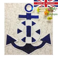 Sew in paillettes APPLIQUE Ancoraggio Nautico patch Luccicante personalizzare Craft dell' abbigliamento b