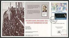 ISRAEL RAOUL WALLENBERG SHOW CARD OVERPRINT & NUMBERED ENGLISH & UN   FD CANCEL