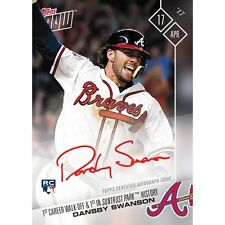 2017 TOPPS NOW #59A DANSBY SWANSON AUTO /99 1ST CAREER WALK-OFF IN SUNTRUST PARK