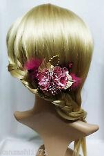 Franzözische Haarspange Haarschmuck Kanzashi Blume Brautschmuck Stoffblume Ros