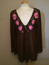 George Brown / Embroidered Neck / Beach Cover Up  - Size UK 12 / EUR 40 - BNWT