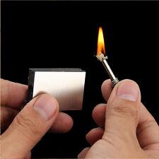 1X Portable Metal Flint Match Lighter Fire Starter Camping Hiking Survival Tool