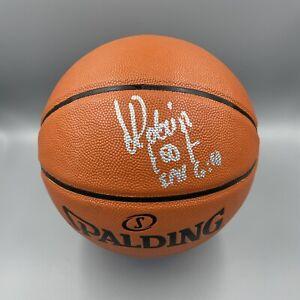 David Robinson Signed Autographed Spalding NBA Basketball Beckett BAS 1 Spurs