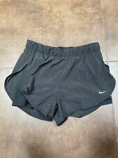 Nike Womens Shorts Flex 2-in-1 Ladies Running Short Inner Tights Black - XL