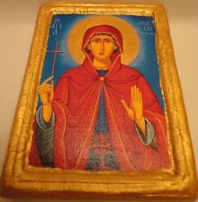 Saint Anastasia The Roman Rare Byzantine Greek Orthodox Icon Art on Real Wood