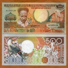 Suriname 500 Gulden Toucan//p135b UNC 1988