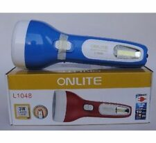 New ONLITE 3 W Laser LED Rechargeable Torch + 8W SMD LED DUAL Function Light