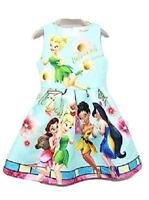 2018 Spring Girls Kids Tinker Bell Fairy Fancy Dress  Princess 2-7 T O11