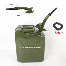 Black Metal Jerry Can Gas Canister Rubber Nozzle Spout Military Style Clamp 20L