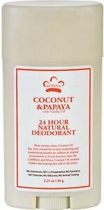 24 Hour Natural Deodorant by Nubian Heritage, 2.25 oz Coconut & Papaya