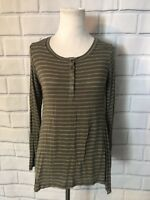 NWT Hippie Rose Long Sleeve Blouse Tunic Sz XS Olive Side Slits Soft New $29