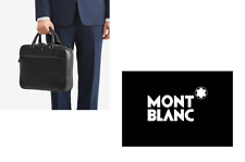 NEW MONTBLANC MONT BLANC DESIGNER BLACK LEATHER SHOULDER SARTORIAL BRIEFCASE BAG