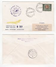 1964 ITALY First Flight Cover ROMA to DÜSSELDORF GERMANY Lufthansa LH341 Boeing