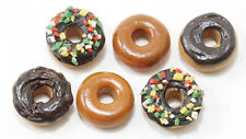Miniature Dollhouse Assorted 6 Piece Donuts 1:12 Scale New