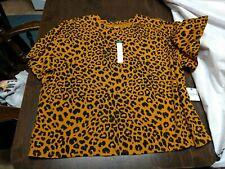 NWT Arizona Yellow Cheetah Top Size Women's 3X Junior Plus
