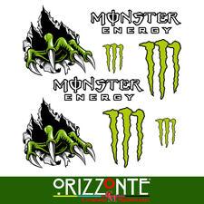 Kit 8 Adesivi Monster Energy Team Claws Seeklogo Stickers