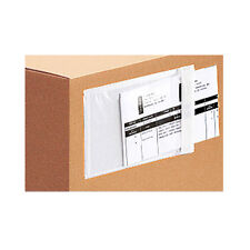 """500 Clear Packing List Invoice Envelopes 6.5x10"""" Self Adhesive SUPER STICKY"""