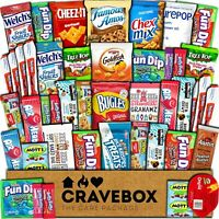 CraveBox Care Package (45 Count) Snacks Cookies Bars Chips Candy