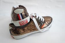 Superdry Sneaker Damen Schuhe Gr. 38 Ballerina Halbschuhe Gold Glanz Turnschuhe