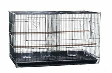Large Aviary Breeding Bird Finch Parakeet Finch Flight Cage With Divider BLK 563