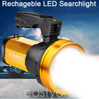 Super Bright LED Searchlight Flashlight Rechargeable Handheld Spotlight Portable