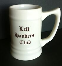 M Ware China Left Handers Club Stein 1965-2015 Coffee Mug Holds 14 Fluid Ounces
