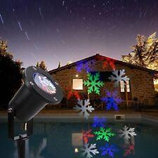 Projecteur à LED Flocons de neige 4 couleurs Lumière de Noël Extérieur 110/220V