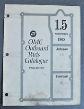 1968 OMC Parts Catalog 1.5HP Outboards Evinrude Mate 1802S Johnson SC-10S Used