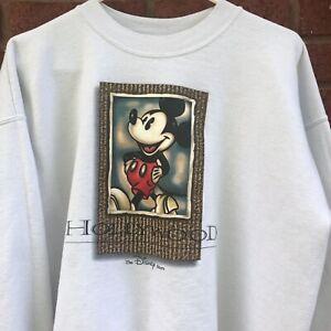 Vintage Mickey Mouse Hollywood Crewneck Sweatshirt Medium The Disney Store