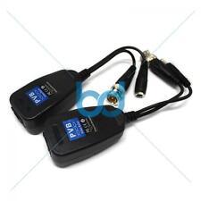 HD-TVI/CVI/AHD/CVBS Passive CCTV Video Power Balun BNIB 1 Pair BNC to CAT5 RJ45
