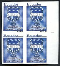 ECUADOR - SOCCER - EMELEC Mi # 2616, Block of 4 Imperforate MNH