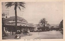 -Carte Postale ancienne Gare PLM Nice ( Alpes-Maritimes ) années 1930's
