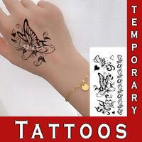 Temporary Tattoo Realistic Look semi permanent Body sticker dark set Men Women