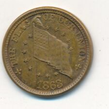 "1863 Civil War Token-High Grade! ""Shoot Him On The Spot""-U.S. Flag-Ships Free!"