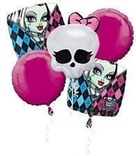 5 Piece Monster High Mylar Birthday Balloon Bouquet Party Decorating Supplie