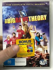 The Big Bang Theory - Complete Fifth Season - 3 DVD Set - AusPost with Tracking
