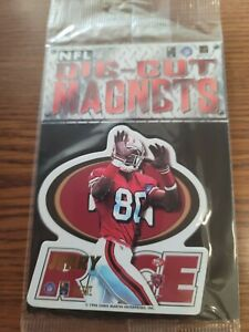 Lot of 80 Jerry Rice 49ers NFL FOOTBALL 1996 die cut MAGNETS NEW SEALED